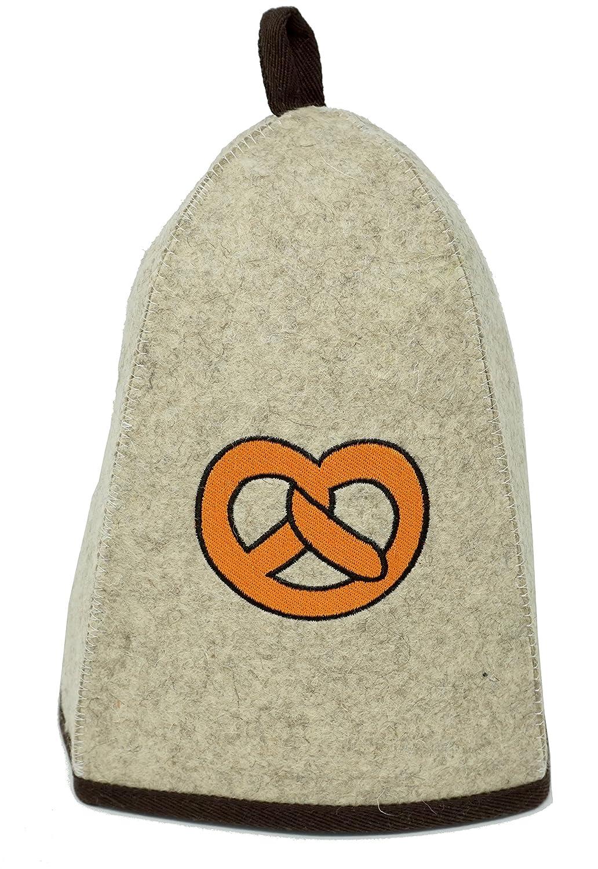 High quality sauna hat for men & women (pretzel) / felt sauna cap. Perfect sauna accessory CRS Empire