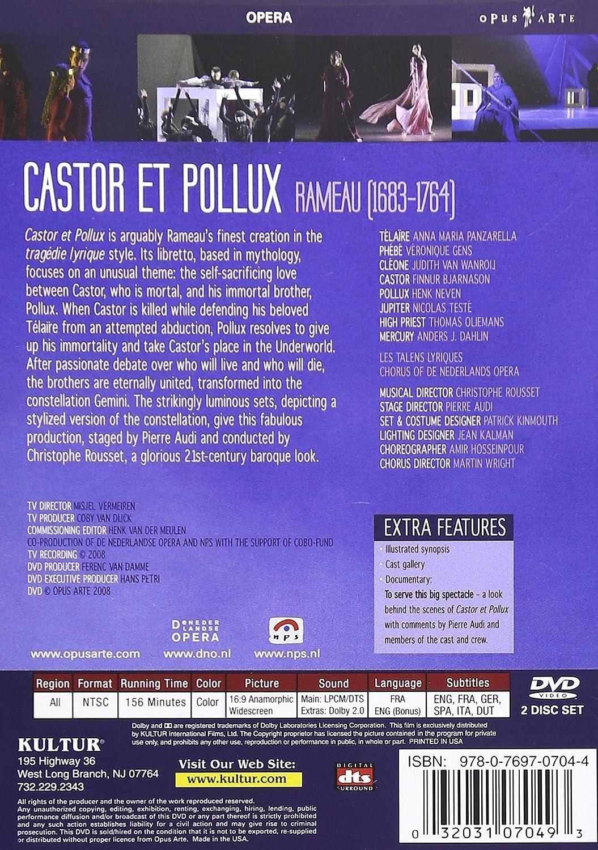 Amazon.com: Rameau: Castor et Pollux: Anna Maria Panzarella ...
