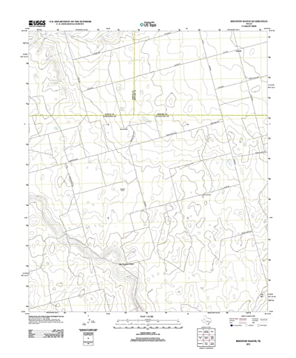 Amazon Com Topographic Map Poster Houston Ranch Tx Tnm Geopdf