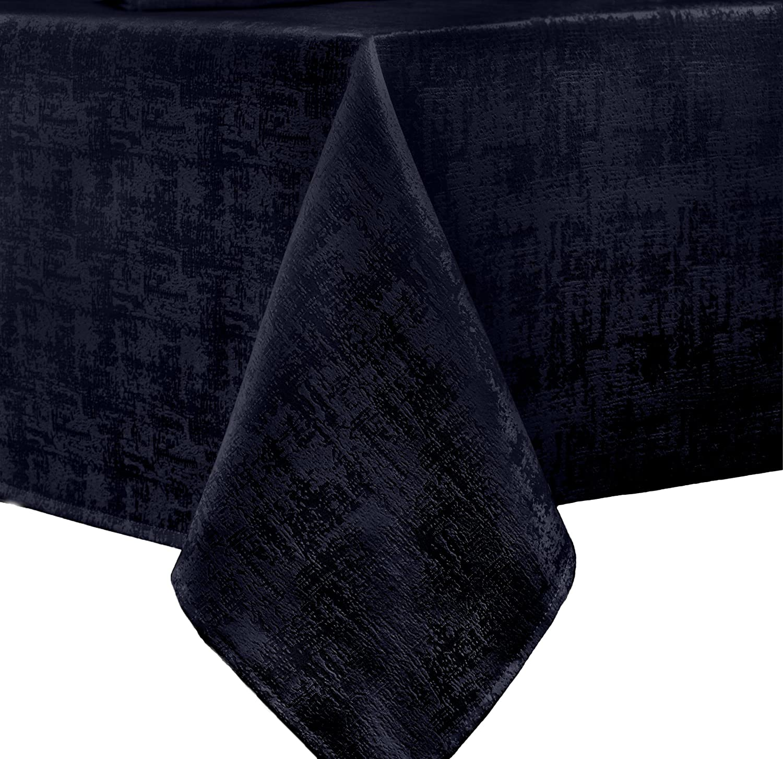 Benson Mills Jacquard Glacier Fabric Tablecloth 60x84 inch Azure 153573