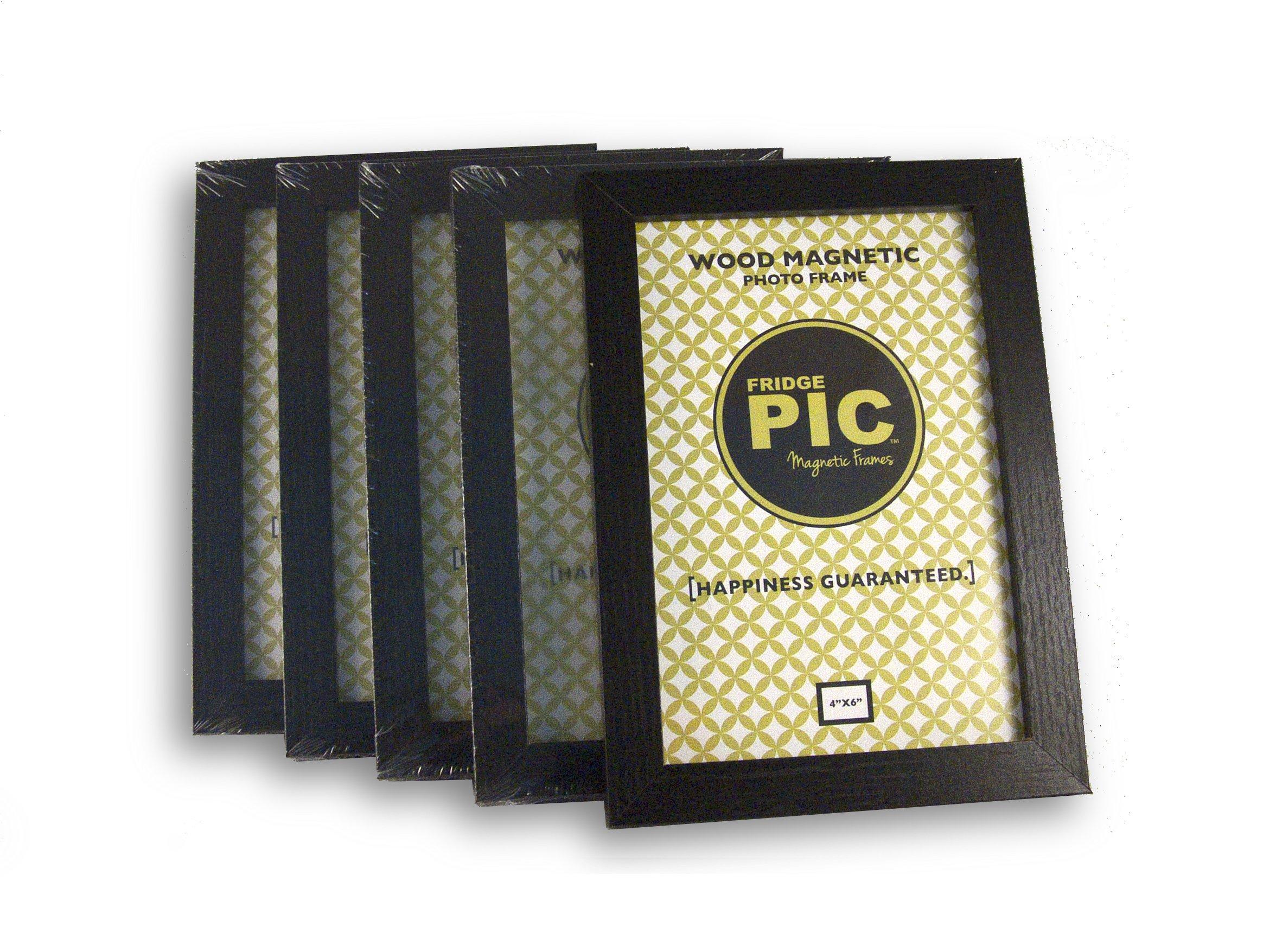 Fridgepic Wood Magnetic Photo Picture Frames, Black - Set of 5 (4x6) by FridgePIC Magnetic Frames (Image #6)
