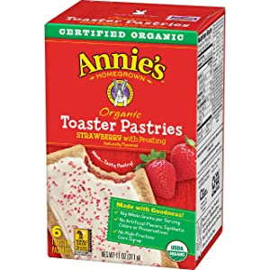 Annie's, Organic Toaster Pastries, Strawberry With Frosting, 6 Ct