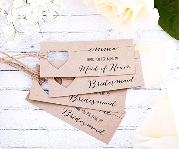 Thank You For Being My Bridesmaid Gift Tags Custom Amazoncom