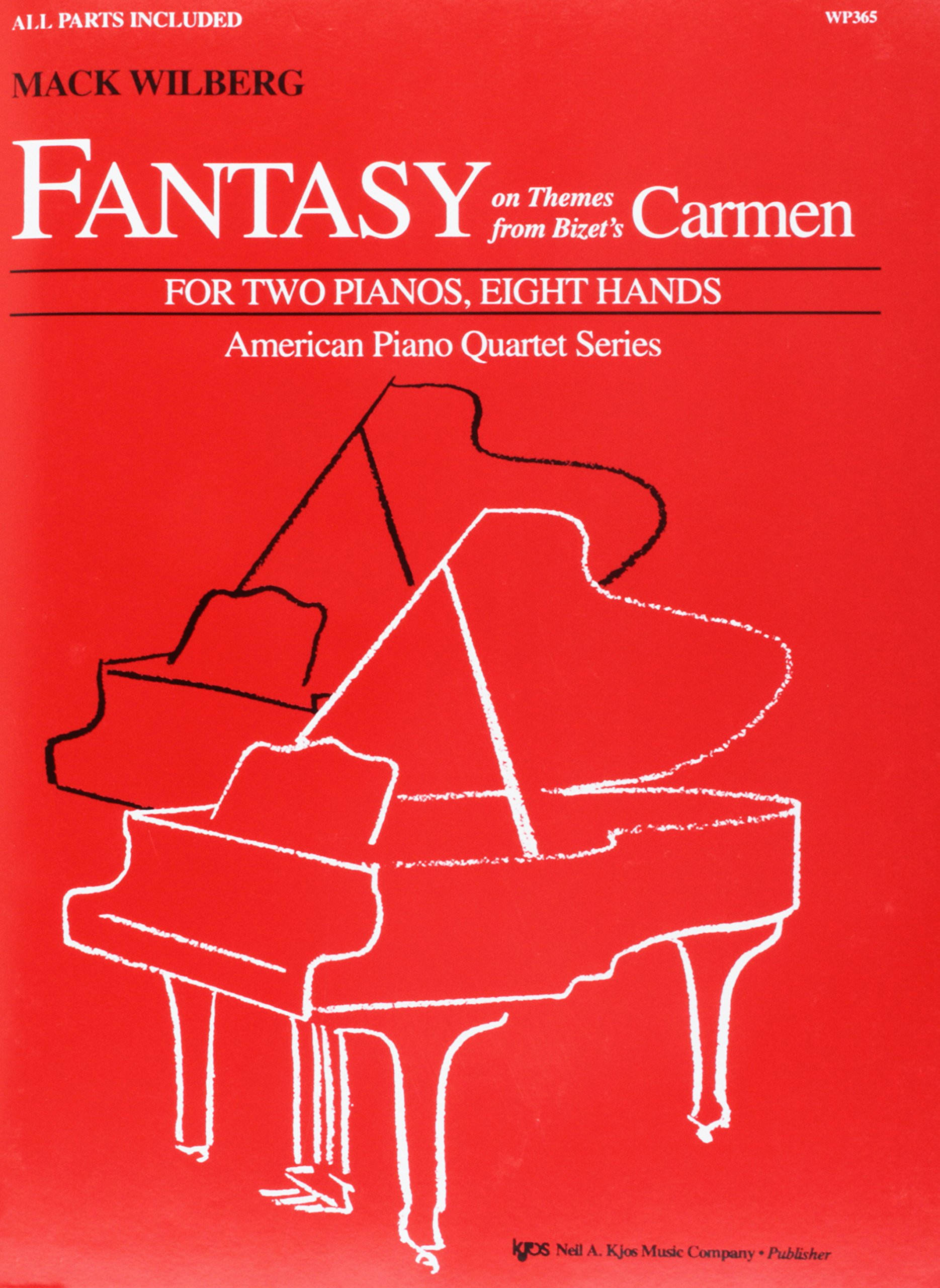 WP365 - Fantasy on Themes from Bizet's Carmen - Two Pianos, 8 Hands PDF