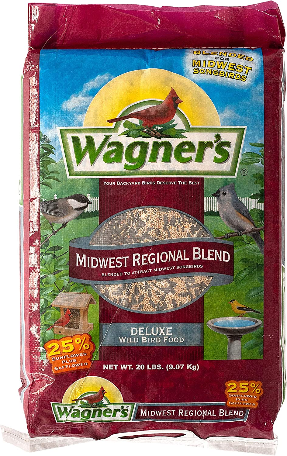 Wagner's 62006 Midwest Regional Blend Wild Bird Food, 20-Pound Bag