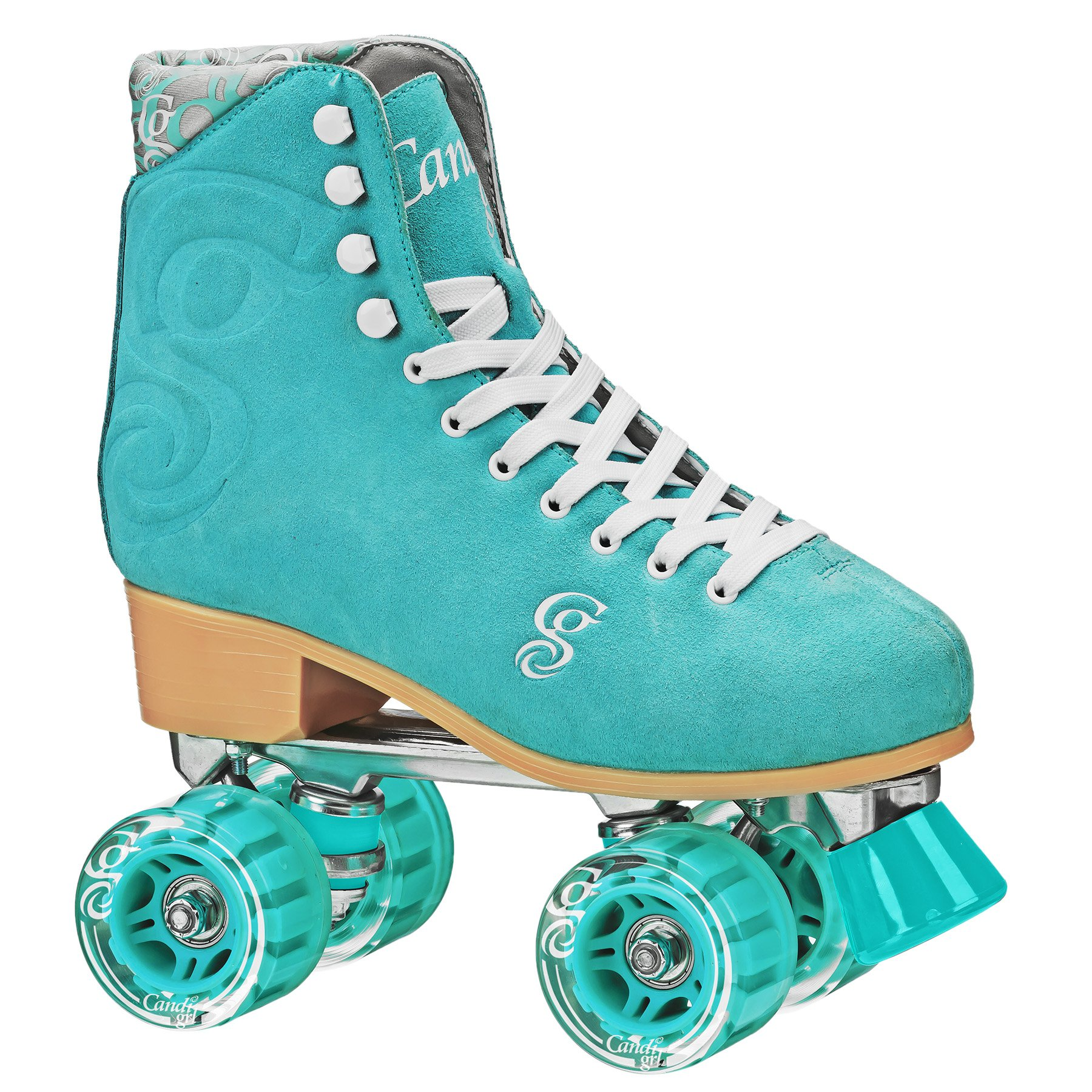 Roller Derby Candi Girl U774 Carlin Quad Artistic Roller Skates Seafoam Ladies sz 3