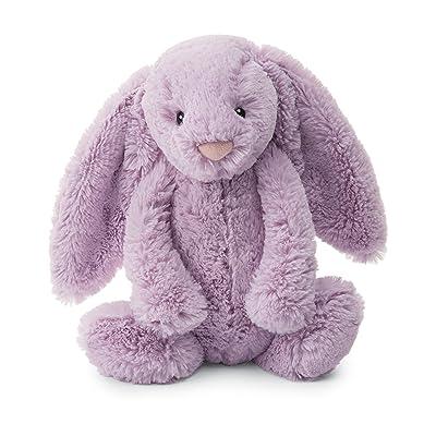 Jellycat Bashful Lilac Bunny Stuffed Animal, Medium, 12 inches: Toys & Games