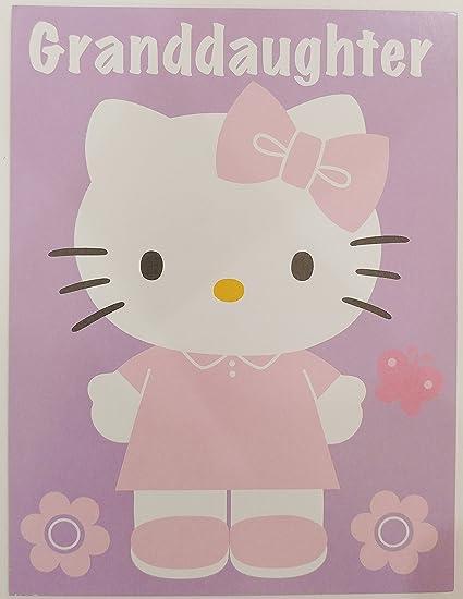 Amazon hello kitty happy birthday granddaughter greeting card hello kitty happy birthday granddaughter greeting card m4hsunfo
