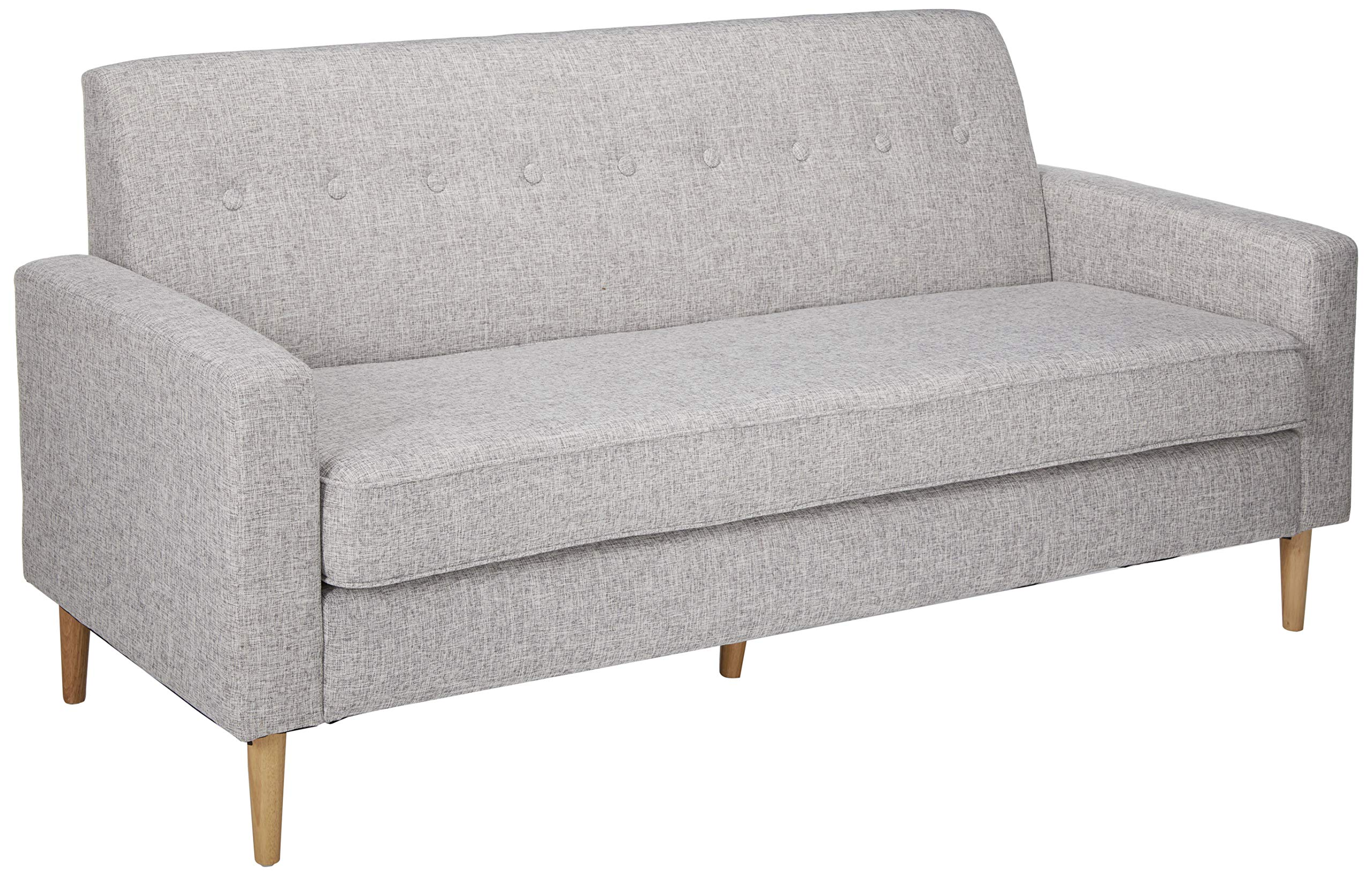 Christopher Knight Home Stratford Mid Century Modern Light Grey Tweed Fabric 3 Seater Sofa by Christopher Knight Home