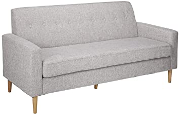 Peachy Christopher Knight Home Stratford Mid Century Modern Light Grey Tweed Fabric 3 Seater Sofa Lamtechconsult Wood Chair Design Ideas Lamtechconsultcom