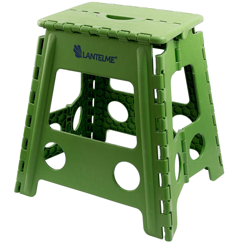 Taburete verde de plástico impermeable para el hogar, jardín y camping de Lantelme