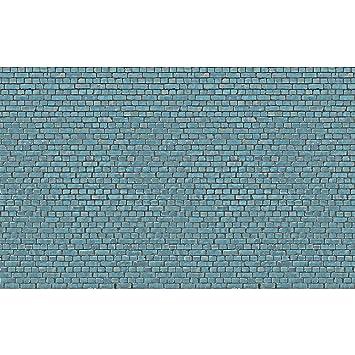 Fotomurale Brick Tile Sfondo Blu Turchese Autoadesivo Carta Da
