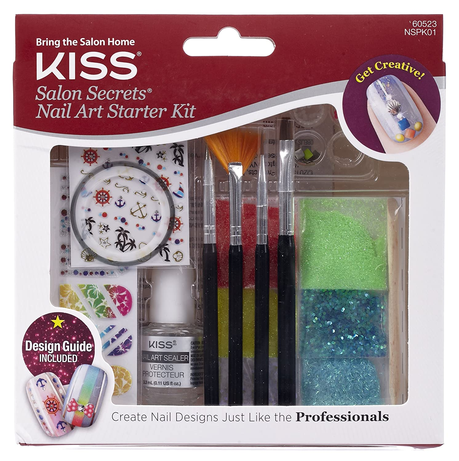 Amazon.com : Kiss Products Salon Secrets Starter Kit, 0.35 Pound ...