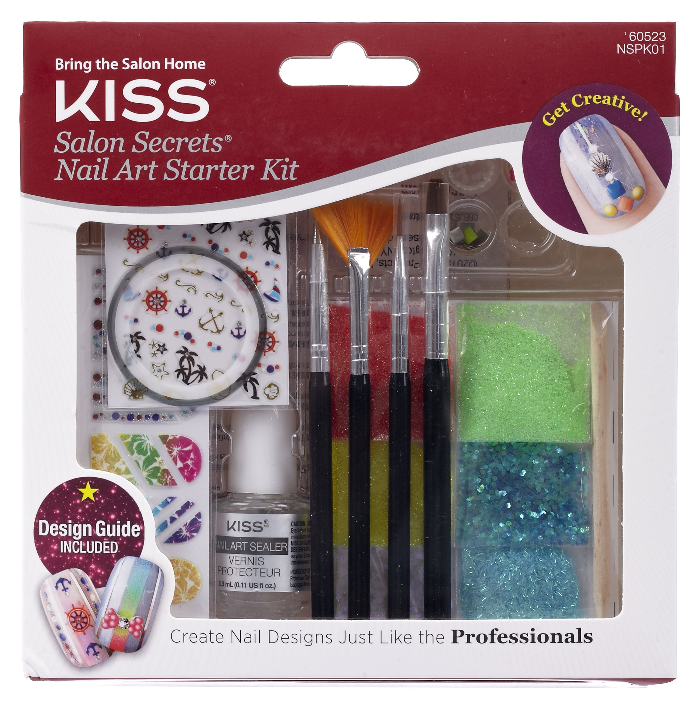 Amazon.com: Kiss Nail Artist Manicure Design Kit, Gala: Beauty