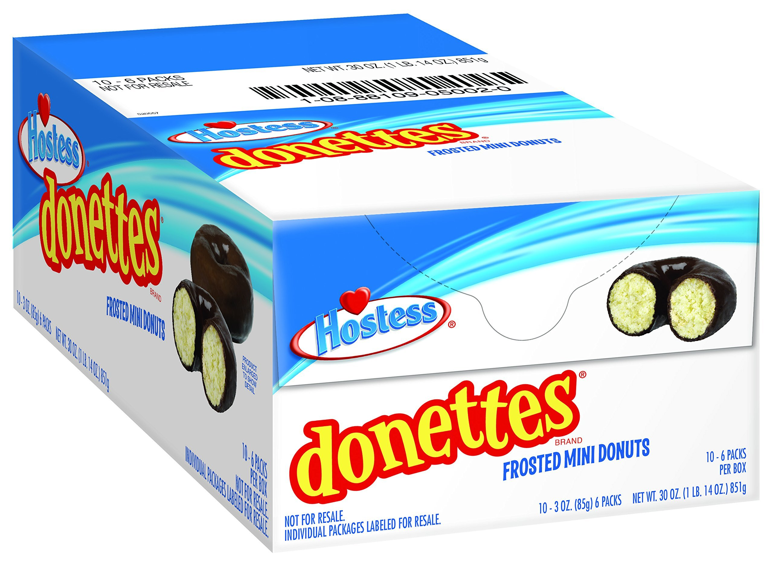 Hostess Donettes Mini Donuts, Frosted, 3 Ounce, 10 Count by Hostess