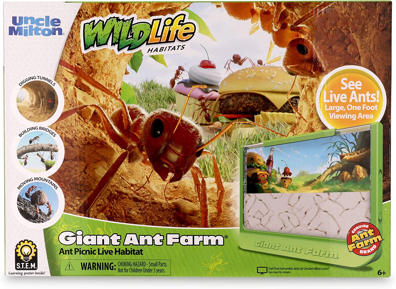 Giant Ant Farm Habitat Uncle Milton Insect Live Ants
