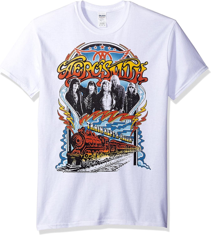 Aerosmith - diseño de Tren A Rolling llevarla T-Camiseta de Manga Corta: Amazon.es: Ropa y accesorios