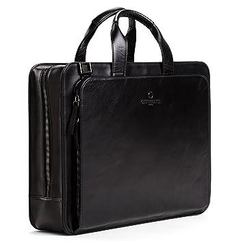 Zoll For 15 Laptopfach Als Schwarz Handles Offermann Inklusive 2 Umhängetasche Men 8 Ledertasche Workbag Liter Businesstasche nwNy0Omv8