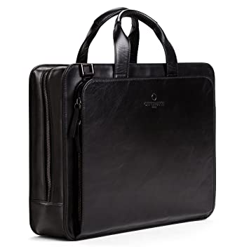 Offermann Ledertasche 15 Schwarz Workbag Umhängetasche For Zoll 8 Laptopfach Businesstasche Inklusive Liter Handles Men 2 Als txsrChQd