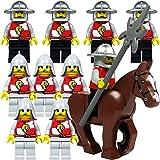 LEGO Castle, Kingdoms, Ritter: Armee mit 2 x 5 Löwenritter, Speeren und Hellebarden und einem Pferd, Set mit 11 Figuren