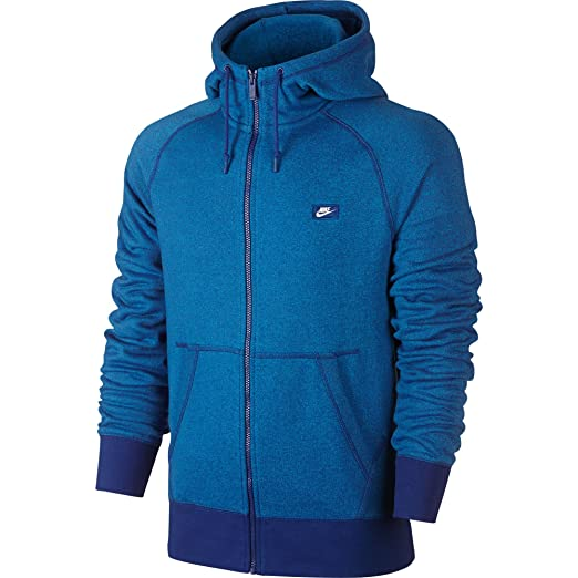 Nike AW77 FT Shoebox Full Zip Hoodie - Men's Game Royal/Black/Heather