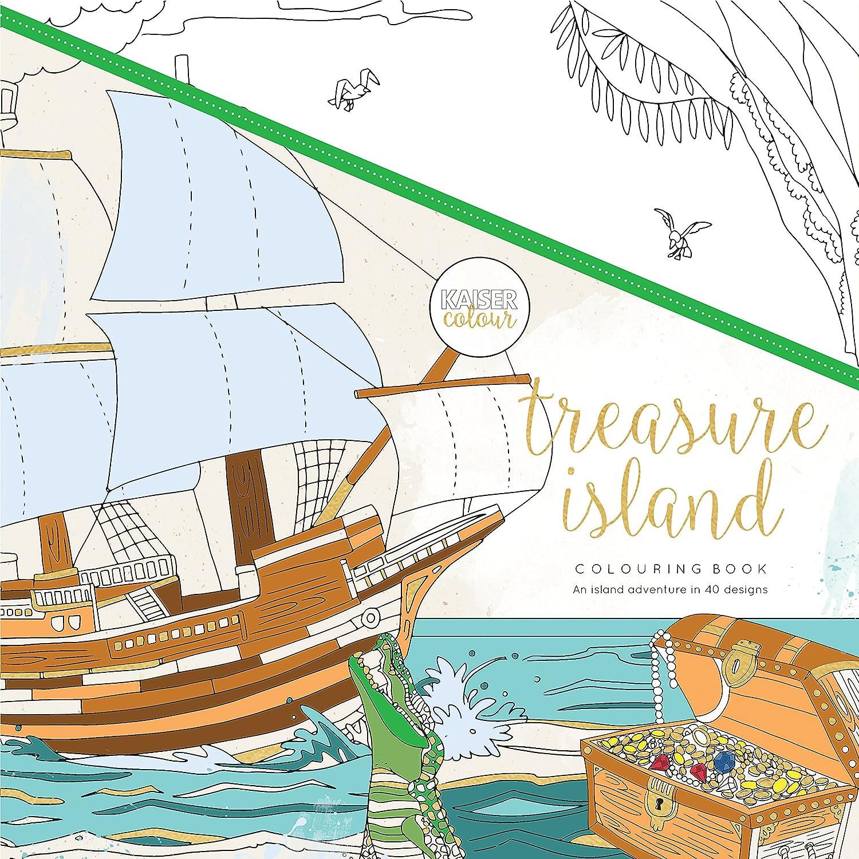 1925405370 Kaisercraft Colouring Book Treasure Island, Paper White, 25 x 25 x 0.6 cm 91pr6QQVKiL
