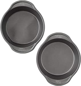 Wilton Perfect Results Premium Non-Stick 6in Round Cake Pan Set, 2-Piece