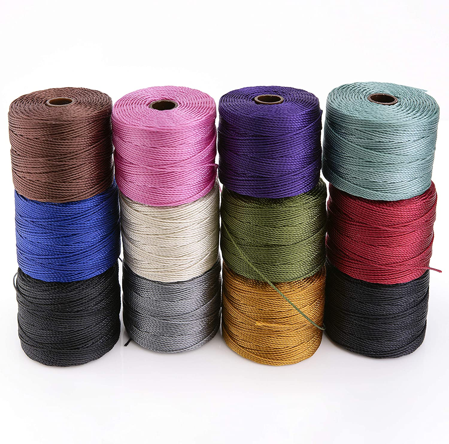 iSuperb 28 Colors Waxed Polyester Cord 1mm Wax Strings Waxed Thread Bracelets Wax Ropes for Jewelry Craft Making 28 Wax Cord