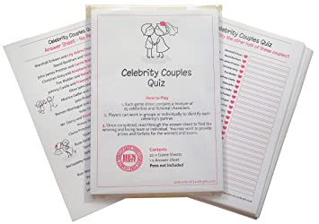 SMILE GIFTS UK Hen Night Celebrity Couples Quiz Game