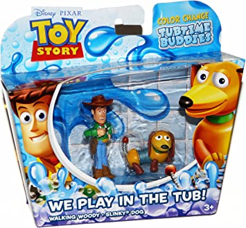 Toy Story Color Splash Buddies Slinky Dog and Woody 2-Pack: Amazon ...