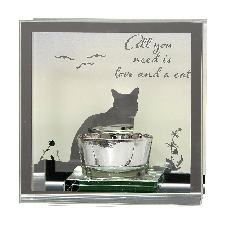 Cat Sentiment Tea Light Candle Holder Gift