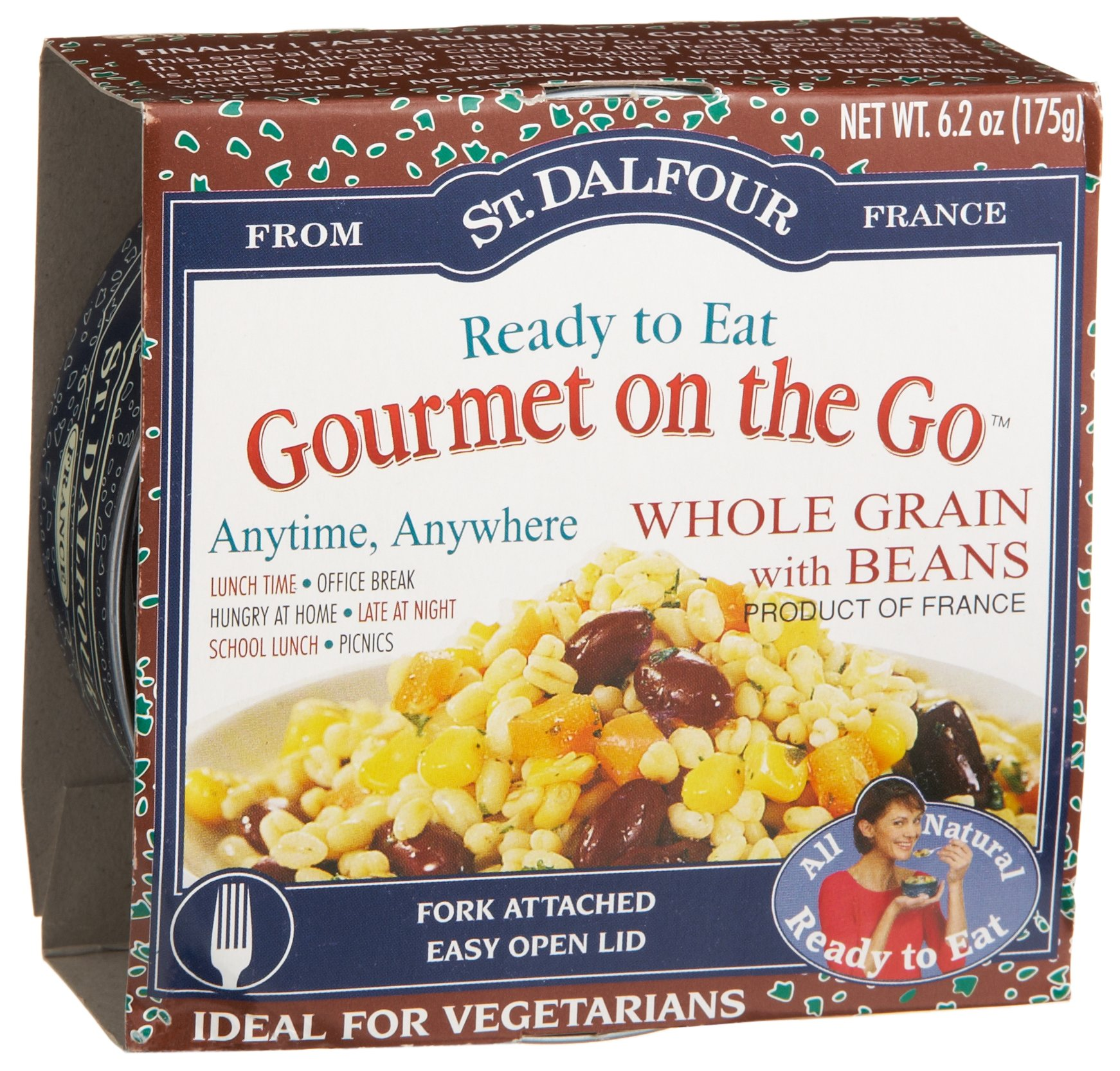 St. Dalfour Gourmet On The Go, Ready to Eat Whole Grain with Beans, 6.2-Ounce (Pack of 6) by St. Dalfour (Image #2)