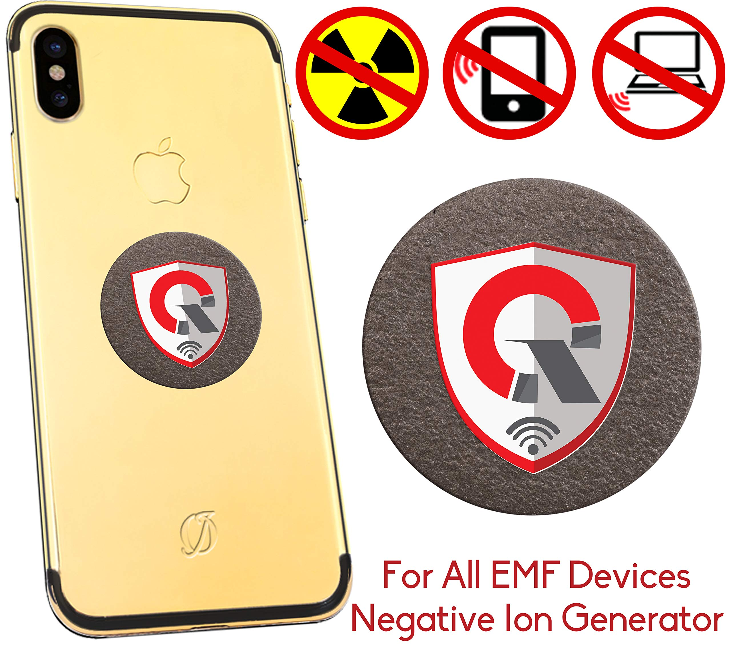 360 Round EMF Protection Tesla Technology: EMF Absorption From CELL PHONE, WiFi, Laptop-All EMF Devices|Negative Ion Generator| International AWARDS|Anti Radiation Shield, EMR Blocker Device 1.18 INCH by QUANTHOR