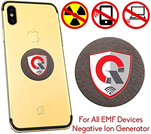 360 Round EMF Protection Tesla Technology: EMF Absorption From CELL PHONE,  WiFi, Laptop-All EMF Devices|Negative Ion Generator| International