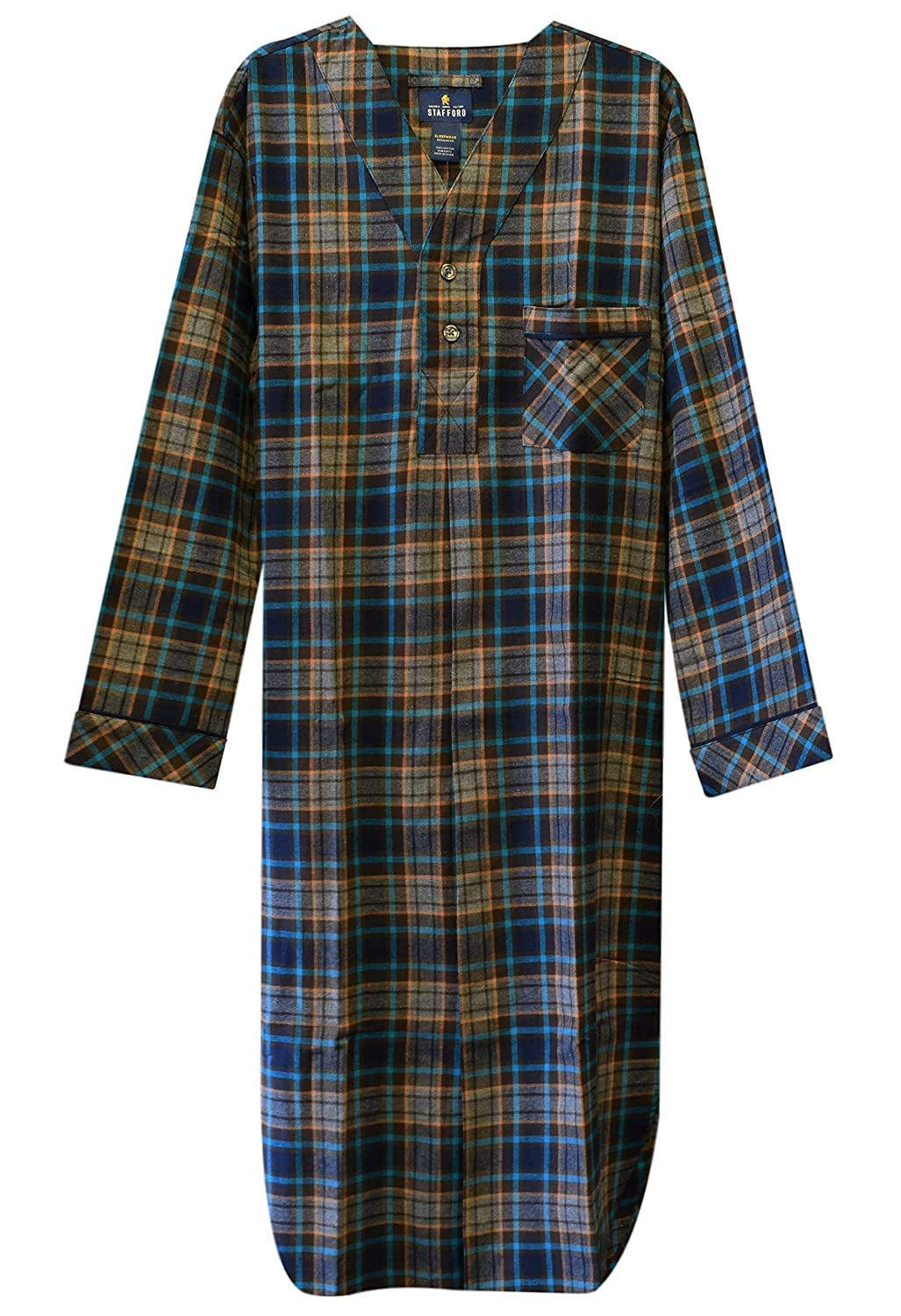Stafford Men's Flannel Nightshirt P83957