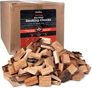 Camerons Gourmet Oak Smoking Wood Chunks- 20 lb Bulk Value Pack- Kiln Dried BBQ Smoker Medium Cut All Natural Wood with Bark Intact