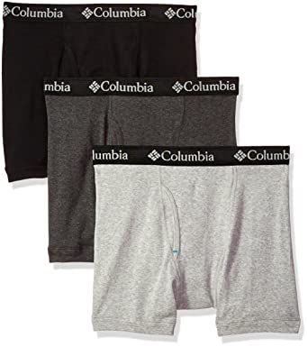 aee72f6be91c Columbia Men's 100% Pure Cotton 3 Pk Boxer Brief at Amazon Men's Clothing  store: