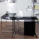 Riess Ambiente Eck-Schreibtisch Big Deal Glas Schwarz Bürotisch Schreibtisch Tisch Glastisch