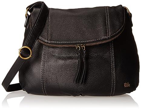 The Sak Deena Hobo Saddle Cross-Body Bag, Black, One Size ...