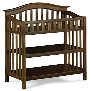 Beau Windsor Knock Down Changing Table, Antique Walnut