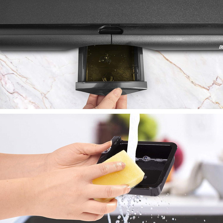 Piastra elettrica da tavolo anti aderente 2000W Piastra per teppanyaki superficie grill da 52 x 27 cm con termostato e vaschetta raccoglitrice Duronic GP20 Ricondizionato