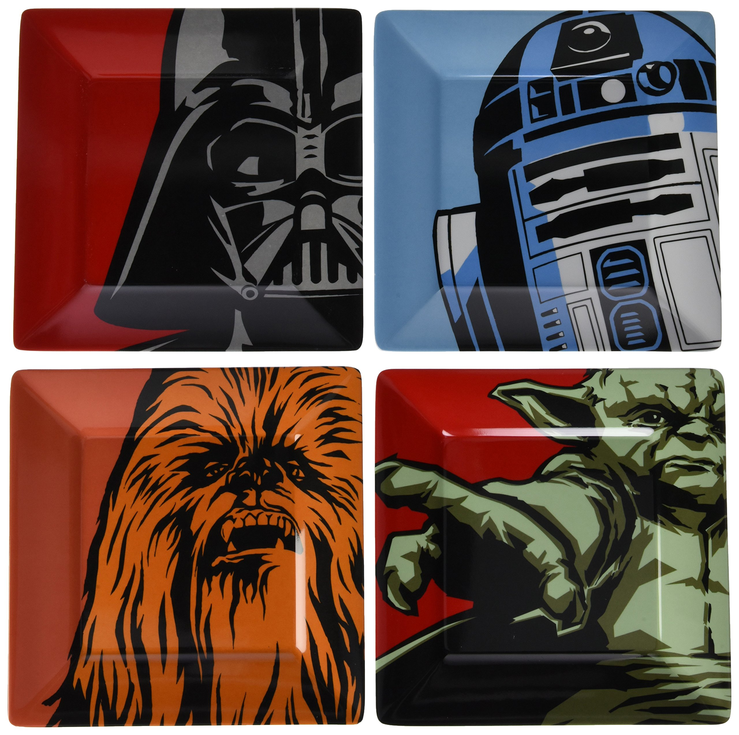 Star Wars Plate Set (Melamine)/Melamine 4PK Classic Characters