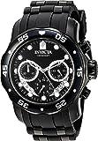 Invicta Men's 'Pro Diver' Quartz Stainless Steel and Silicone Watch, Color:Black (Model: 21930)