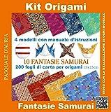 Kit origami. 10 fantasie samurai. Con gadget