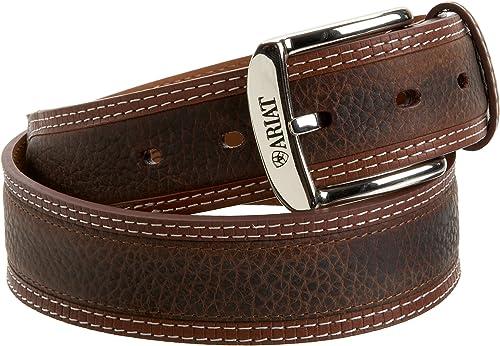 ARIAT 32-46 inches Western Men DEISEL Brown Rowdy Leather Belt