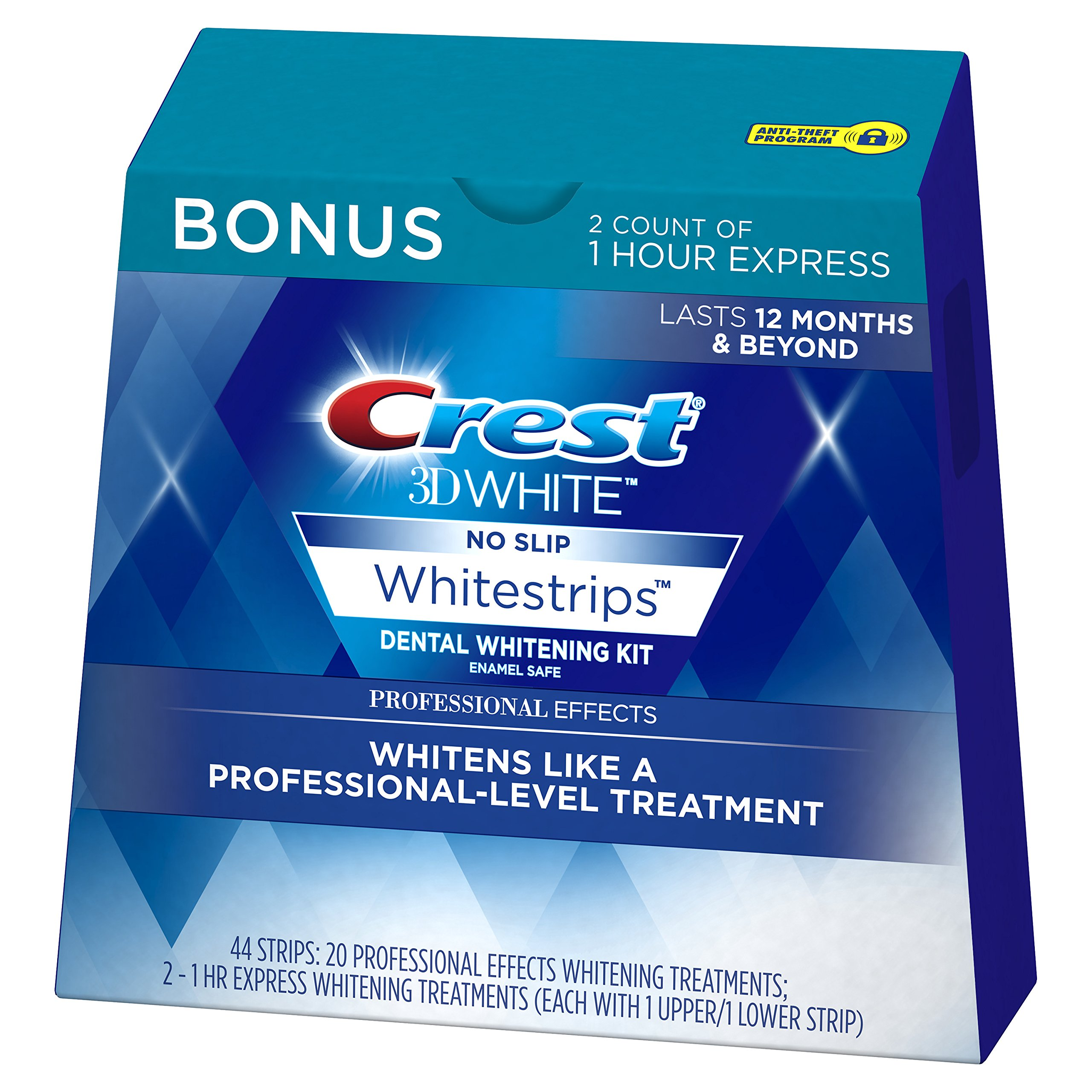 Crest 3D White Professional Effects Whitestrips Whitening Strips Kit, 22 Treatments, 20 Professional Effects + 2 1 Hour Express Whitestrips by Crest (Image #3)
