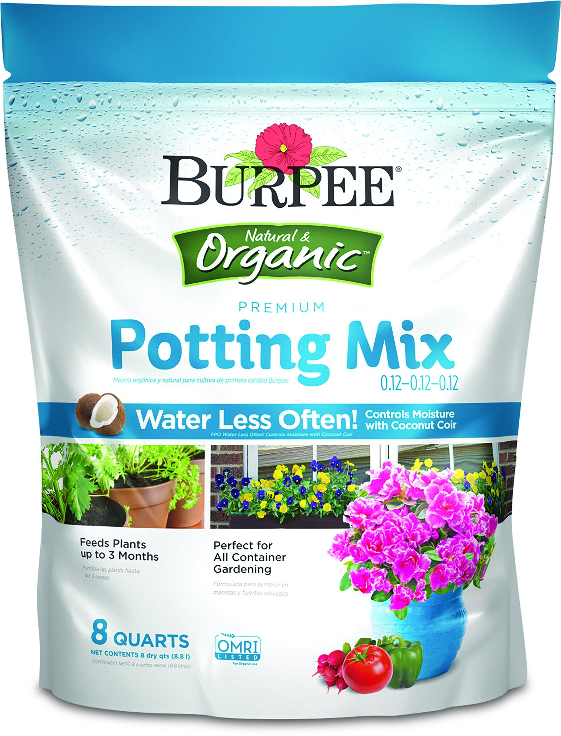 Burpee 99939 Organic Premium Potting Mix, 8 quart