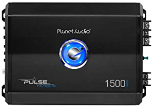 Planet Audio PL1500.1MPulse 1500 Watt, 2 Ohm Stable Class A/B, Monoblock, Mosfet Car Amplifier with Remote Subwoofer Control