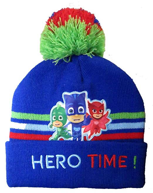 Amazon.com: Disney Toddler Boys PJ Masks Winter Beanie Hat with Pompom and Mitten Set [4014]: Clothing