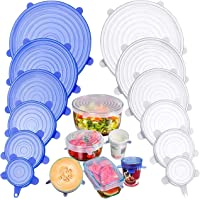 BANGASHIAN Silicone Stretch Lids, FDA Approved BPA Free, Pack of 12, 2.6 inches-8.1 inches, Eco-Friendly, Easy to Use…